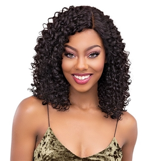 Glamourtress, wigs, weaves, braids, half wigs, full cap, hair, lace front, hair extension, nicki minaj style, Brazilian hair, crochet, hairdo, wig tape, remy hair, Janet Collection 100% Virgin Remy Human Hair Natural Deep Part Lace Wig - BOHEMIAN 18
