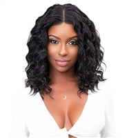 Glamourtress, wigs, weaves, braids, half wigs, full cap, hair, lace front, hair extension, nicki minaj style, Brazilian hair, crochet, hairdo, wig tape, remy hair, Janet Collection 100% Virgin Remy Human Hair Natural Deep Part Lace Wig - DEEP 18