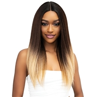 Glamourtress, wigs, weaves, braids, half wigs, full cap, hair, lace front, hair extension, nicki minaj style, Brazilian hair, crochet, hairdo, wig tape, remy hair, Janet Collection Natural Me Blowout Texture Lace Wig - IMAN