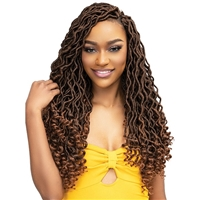 Glamourtress, wigs, weaves, braids, half wigs, full cap, hair, lace front, hair extension, nicki minaj style, Brazilian hair, crochet, hairdo, wig tape, remy hair, Janet Collection Nala Tress Crochet Braids - GYPSY GODDESS LOCS 18