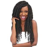Glamourtress, wigs, weaves, braids, half wigs, full cap, hair, lace front, hair extension, nicki minaj style, Brazilian hair, crochet, hairdo, wig tape, remy hair, Janet Collection Nala Tress Crochet Braids - MAMBO PASSION TWIST BRAID 18""