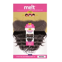 Janet Collection 100% Natural Virgin Remy Human Hair - MELT 13X5 HD LACE CLOSURE BODY WAVE 10-12