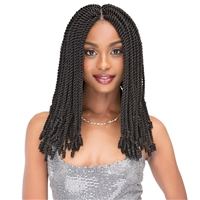 Glamourtress, wigs, weaves, braids, half wigs, full cap, hair, lace front, hair extension, nicki minaj style, Brazilian hair, crochet, hairdo, wig tape, remy hair,Janet Collection Hair Crochet Braids Nala Tress - 2X Senegal Curly Finish 14""