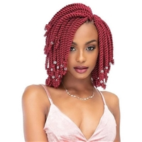Glamourtress, wigs, weaves, braids, half wigs, full cap, hair, lace front, hair extension, nicki minaj style, Brazilian hair, crochet, hairdo, wig tape, remy hair,Janet Collection Synthetic Braids - 2X Senegal Curly Finish 8""