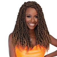 Glamourtress, wigs, weaves, braids, half wigs, full cap, hair, lace front, hair extension, nicki minaj style, Brazilian hair, crochet, hairdo, wig tape, remy hair, Janet Collection Nalatress Synthetic Hair Crochet Braid - 3X PASSION TWIST 18""