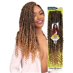 Glamourtress, wigs, weaves, braids, half wigs, full cap, hair, lace front, hair extension, nicki minaj style, Brazilian hair, crochet, hairdo, wig tape, remy hair, Janet Collection Nala Tress Crochet Braid Passion Twist Braid 18""