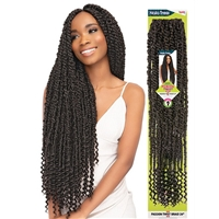 Glamourtress, wigs, weaves, braids, half wigs, full cap, hair, lace front, hair extension, nicki minaj style, Brazilian hair, crochet, hairdo, wig tape, remy hair, Janet Collection Nala Tress Crochet Braid Passion Twist Braid 24""
