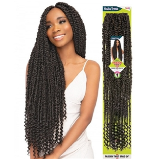 Glamourtress, wigs, weaves, braids, half wigs, full cap, hair, lace front, hair extension, nicki minaj style, Brazilian hair, crochet, hairdo, wig tape, remy hair, Janet Collection Nala Tress Crochet Braid Passion Twist Braid 28""