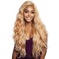 Glamourtress, wigs, weaves, braids, half wigs, full cap, hair, lace front, hair extension, nicki minaj style, Brazilian hair, crochet, hairdo, wig tape, remy hair, Mane Concept Human Hair Blend Brown Sugar Invisible Whole Lace Front Wig - BSI406 OLEANDER