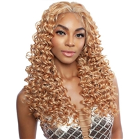 Glamourtress, wigs, weaves, braids, half wigs, full cap, hair, lace front, hair extension, nicki minaj style, Brazilian hair, crochet, hairdo, wig tape, remy hair, Mane Concept Human Hair Blend Brown Sugar Invisible Whole Lace Front Wig - BSI408 SEVILLE