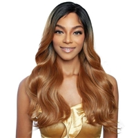 Glamourtress, wigs, weaves, braids, half wigs, full cap, hair, lace front, hair extension, nicki minaj style, Brazilian hair, crochet, hairdo, wig tape, remy hair, Mane Concept Human Hair Blend Brown Sugar Invisible Whole Lace Front Wig - BSI409 AMALFI