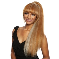 Glamourtress, wigs, weaves, braids, half wigs, full cap, hair, lace front, hair extension, nicki minaj style, Brazilian hair, crochet, hairdo, wig tape, remy hair, Lace Front Wigs, Mane Concept Bangtail Yellowtail Synthetic Ponytail - YTBT10 Yonce 26