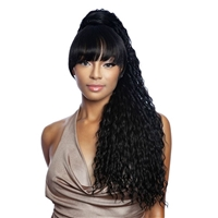 Glamourtress, wigs, weaves, braids, half wigs, full cap, hair, lace front, hair extension, nicki minaj style, Brazilian hair, crochet, hairdo, wig tape, remy hair, Lace Front Wigs, Remy Hair, Mane Concept Yellowtail BangTail Ponytail - YTBT08 RIRI 28