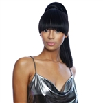 Glamourtress, wigs, weaves, braids, half wigs, full cap, hair, lace front, hair extension, nicki minaj style, Brazilian hair, crochet, hairdo, wig tape, remy hair, Lace Front Wigs, Remy Hair, Mane Concept Yellowtail BangTail Ponytail YTBT09 BLUNT STRAIGHT