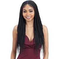 Glamourtress, wigs, weaves, braids, half wigs, full cap, hair, lace front, hair extension, nicki minaj style, Brazilian hair, crochet, hairdo, wig tape, remy hair, Lace Front Wigs, Remy Hair, Model Model Braided Lace Wig 5x5 CORNROW BRAID