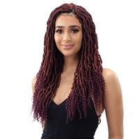 Glamourtress, wigs, weaves, braids, half wigs, full cap, hair, lace front, hair extension, nicki minaj style, Brazilian hair, crochet, hairdo, wig tape, remy hair, Lace Front Wigs, Remy Hair, Human Hair, Model Model Glance Braid 2X BOMB TWIST 18""