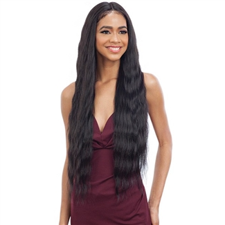 Glamourtress, wigs, weaves, braids, half wigs, full cap, hair, lace front, hair extension, nicki minaj style, Brazilian hair, crochet, hairdo, wig tape, remy hair, Lace Front Wigs, Remy Hair, Model Model Synthetic Freedom Part Lace Front Wig - NUMBER 010