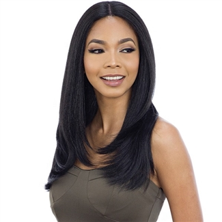 Glamourtress, wigs, weaves, braids, half wigs, full cap, hair, lace front, hair extension, nicki minaj style, Brazilian hair, crochet, hairdo, wig tape, remy hair, Lace Front Wigs, Remy Hair, Model Model Synthetic Freedom Part Lace Wig NUMBER 104