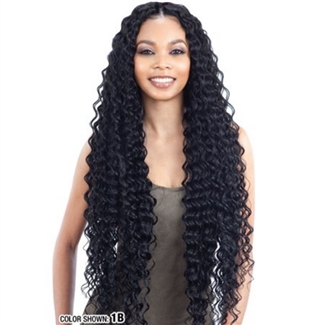 "Glamourtress, wigs, weaves, braids, half wigs, full cap, hair, lace front, hair extension, nicki minaj style, Brazilian hair, crochet, hairdo, wig tape, remy hair, Lace Front Wigs, Model Model Hair Gardenia Deep Wave 30""-36"""