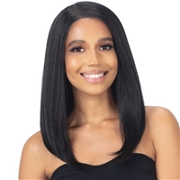 Glamourtress, wigs, weaves, braids, half wigs, full cap, hair, lace front, hair extension, nicki minaj style, Brazilian hair, crochet, hairdo, wig tape, remy hair, Lace Front Wigs, Remy Hair, Model Model Premium Synthetic Mint HD Lace Frontal Wig - MHF-02