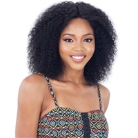 Glamourtress, wigs, weaves, braids, half wigs, full cap, hair, lace front, hair extension, nicki minaj style, Brazilian hair, crochet, hairdo, wig tape, Model Model Nude Fresh Wet & Wavy 100% Brazilian Hair Lace Front Wig - BRIGHT CURL