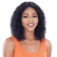 Glamourtress, wigs, weaves, braids, half wigs, full cap, hair, lace front, hair extension, nicki minaj style, Brazilian hair, crochet, hairdo, wig tape, Model Model Nude Fresh Brazilian Natural Human Hair Lace Front Wig - WET N WAVY PACIFIC WAVE