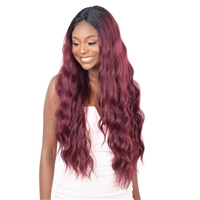 Glamourtress, wigs, weaves, braids, half wigs, full cap, hair, lace front, hair extension, nicki minaj style, Brazilian hair, crochet, hairdo, wig tape, remy hair, Lace Front Wigs, Remy Hair, Model Model Premium Synthetic Mint Lace Front Wig - ML 02