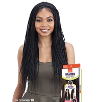 Glamourtress, wigs, weaves, braids, half wigs, full cap, hair, lace front, hair extension, nicki minaj style, Brazilian hair, crochet, hairdo, wig tape, remy hair, Lace Front Wigs, Remy Hair, Model Model Synthetic 5x5 Braid Lace Wig - BOX BRAIDS