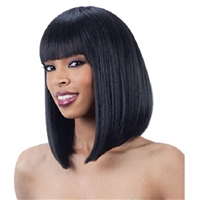 Glamourtress, wigs, weaves, braids, half wigs, full cap, hair, lace front, hair extension, nicki minaj style, Brazilian hair, crochet, hairdo, wig tape, remy hair, Lace Front Wigs, Remy Hair, Human Hair, Model Model Synthetic Cozy Cap Wig 001