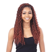 Glamourtress, wigs, weaves, braids, half wigs, full cap, hair, lace front, hair extension, nicki minaj style, Brazilian hair, crochet, hairdo, wig tape, remy hair, Lace Front Wigs, Model Model Glance 3X Pre-Stretched Synthetic Braid - BOHO GORGEOUS TWIST