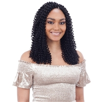 Glamourtress, wigs, weaves, braids, half wigs, full cap, hair, lace front, hair extension, nicki minaj style, Brazilian hair, crochet, hairdo, wig tape, remy hair, Lace Front Wigs, Model Model Synthetic Glance Braid - NEW WATER WAVE 12