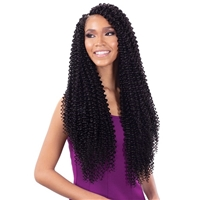 Glamourtress, wigs, weaves, braids, half wigs, full cap, hair, lace front, hair extension, nicki minaj style, Brazilian hair, crochet, hairdo, wig tape, remy hair, Lace Front Wigs, Model Model Synthetic Glance Braid - NEW WATER WAVE LONG