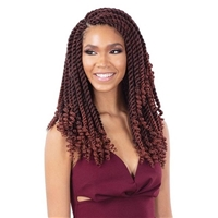 Glamourtress, wigs, weaves, braids, half wigs, full cap, hair, lace front, hair extension, nicki minaj style, Brazilian hair, crochet, hairdo, wig tape, remy hair, Lace Front Wigs, Model Model Glance Synthetic Braid - 3X PRE-CURLED TWIST 14
