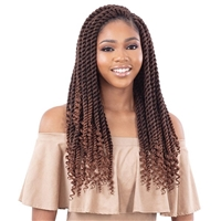 Glamourtress, wigs, weaves, braids, half wigs, full cap, hair, lace front, hair extension, nicki minaj style, Brazilian hair, crochet, hairdo, wig tape, remy hair, Lace Front Wigs, Model Model Glance Synthetic Braid - 3X PRE-CURLED TWIST 18