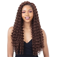 Glamourtress, wigs, weaves, braids, half wigs, full cap, hair, lace front, hair extension, nicki minaj style, Brazilian hair, crochet, hairdo, wig tape, remy hair, Lace Front Wigs, Remy Hair, Human Hair, Model Model Synthetic Glance Braid - 3X SEA WAVE 20