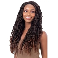 Glamourtress, wigs, weaves, braids, half wigs, full cap, hair, lace front, hair extension, nicki minaj style, Brazilian hair, crochet, hairdo, wig tape, remy hair, Lace Front Wigs, Remy Hair, Human Hair, Model Model Synthetic Glance Braid - 3X TRINI LOC 1