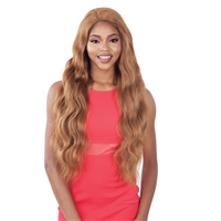 Glamourtress, wigs, weaves, braids, half wigs, full cap, hair, lace front, hair extension, nicki minaj style, Brazilian hair, crochet, hairdo, wig tape, remy hair, Lace Front Wigs, Remy Hair, Model Model Synthetic Hair Elite Whole Lace Wig - EL 003