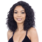 Glamourtress, wigs, weaves, braids, half wigs, full cap, hair, lace front, hair extension, nicki minaj style, Brazilian hair, crochet, hairdo, wig tape, remy hair, Lace Front Wigs, Remy Hair, Model Model Synthetic Hair Lace Part Wig - ELIZA (5 inch deep l