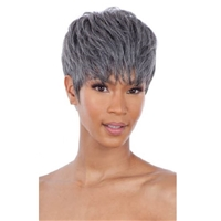 Glamourtress, wigs, weaves, braids, half wigs, full cap, hair, lace front, hair extension, nicki minaj style, Brazilian hair, crochet, hairdo, wig tape, remy hair, Lace Front Wigs, Remy Hair, Human Hair, Model Model Synthetic Sterling Queen Wig - SQ-02