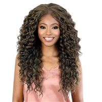 Glamourtress, wigs, weaves, braids, half wigs, full cap, hair, lace front, hair extension, nicki minaj style, Brazilian hair, crochet, hairdo, wig tape, remy hair, Lace Front Wigs, Motown Tress Synthetic Hair HD Invisible 13X7 Lace Wig - LS137 AIR