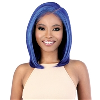 Glamourtress, wigs, weaves, braids, half wigs, full cap, hair, lace front, hair extension, nicki minaj style, Brazilian hair, crochet, hairdo, wig tape, remy hair, Lace Front Wigs, Motown Tress Synthetic Hair HD Invisible 13X7 Lace Wig - LS137 BLUE