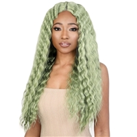 Glamourtress, wigs, weaves, braids, half wigs, full cap, hair, lace front, hair extension, nicki minaj style, Brazilian hair, crochet, hairdo, wig tape, remy hair, Lace Front Wigs, Motown Tress Let's Lace Deep Part Lace Front Wig - LDP CRIMP7
