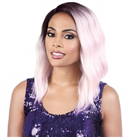Glamourtress, wigs, weaves, braids, half wigs, full cap, hair, lace front, hair extension, nicki minaj style, Brazilian hair, crochet, hairdo, wig tape, remy hair, Lace Front Wigs, Motown Tress Synthetic Hair Curve Part Let's Lace Wig - LDP CURVE3
