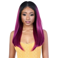 Glamourtress, wigs, weaves, braids, half wigs, full cap, hair, lace front, hair extension, nicki minaj style, Brazilian hair, crochet, hairdo, wig tape, remy hair, Lace Front Wigs, Motown Tress Synthetic HD Invisible 13X6 Lace Wig - L136.HD03