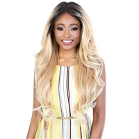 Glamourtress, wigs, weaves, braids, half wigs, full cap, hair, lace front, hair extension, nicki minaj style, Brazilian hair, crochet, hairdo, wig tape, remy hair, Lace Front Wigs, Motown Tress Synthetic Hair HD Invisible 13X6 Lace Wig - L136 HD05