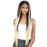 Glamourtress, wigs, weaves, braids, half wigs, full cap, hair, lace front, hair extension, nicki minaj style, Brazilian hair, crochet, hairdo, wig tape, remy hair, Lace Front Wigs, Motown Tress Synthetic Hair HD Invisible 13X7 Lace Wig - LS137.LUNA