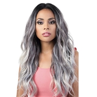 Glamourtress, wigs, weaves, braids, half wigs, full cap, hair, lace front, hair extension, nicki minaj style, Brazilian hair, crochet, hairdo, wig tape, remy hair, Lace Front Wigs, Motown Tress Human Hair Blend 360 Lace Wig - HB360L.ZIA