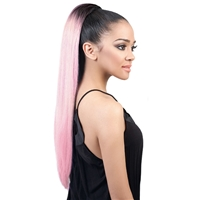 Glamourtress, wigs, weaves, braids, half wigs, full cap, hair, lace front, hair extension, nicki minaj style, Brazilian hair, crochet, hairdo, wig tape, remy hair, Motown Tress PonyDo Drawstring Ponytail - PD Pastel