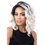 Glamourtress, wigs, weaves, braids, half wigs, full cap, hair, lace front, hair extension, nicki minaj style, Brazilian hair, crochet, hairdo, wig tape, remy hair, Lace Front Wigs, Motown Tress Synthetic Hair Wig - DP ZOE (5 inch deep lace part)