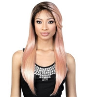Glamourtress, wigs, weaves, braids, half wigs, full cap, hair, lace front, hair extension, nicki minaj style, Brazilian hair, crochet, hairdo, wig tape, remy hair, Lace Front Wigs, Motown Tress Seduction Synthetic Lace Deep Part Wig - LP.ARIEL
